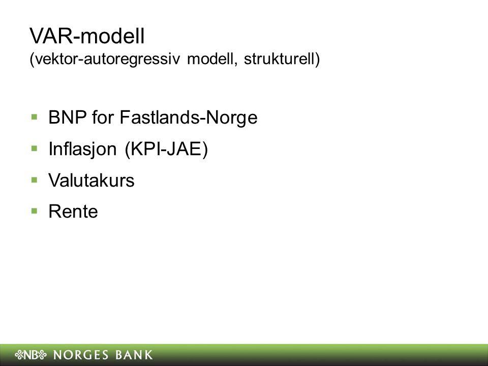 VAR-modell (vektor-autoregressiv modell, strukturell)