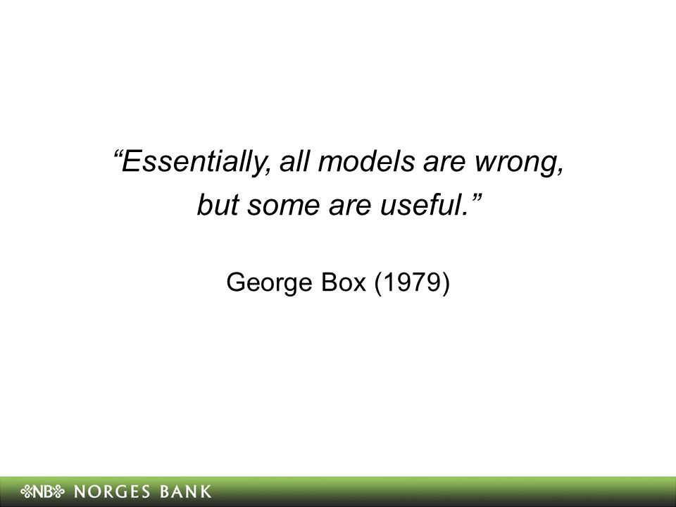 Essentially, all models are wrong,