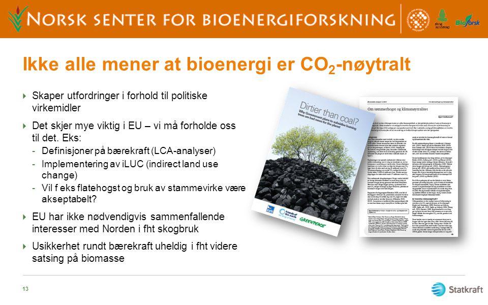 Ikke alle mener at bioenergi er CO2-nøytralt