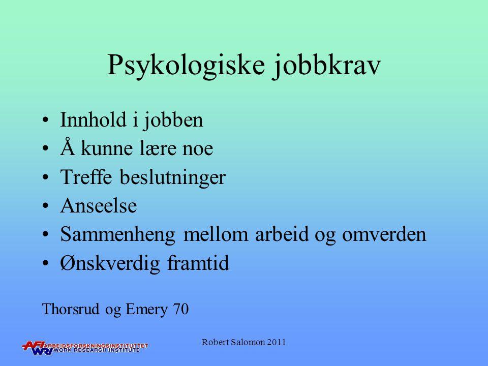 Psykologiske jobbkrav