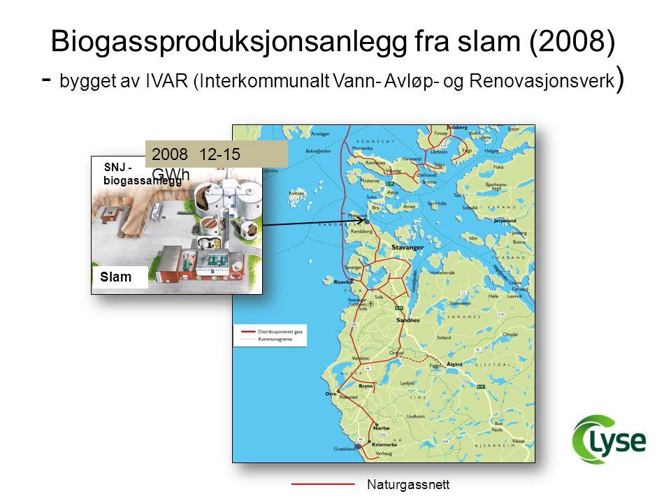 Biogassproduksjonsanlegg fra slam (2008)