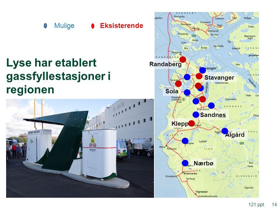 Lyse har etablert gassfyllestasjoner i regionen