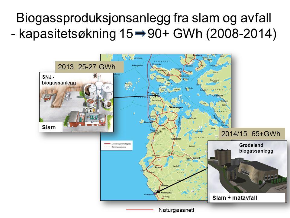 Biogassproduksjonsanlegg fra slam og avfall