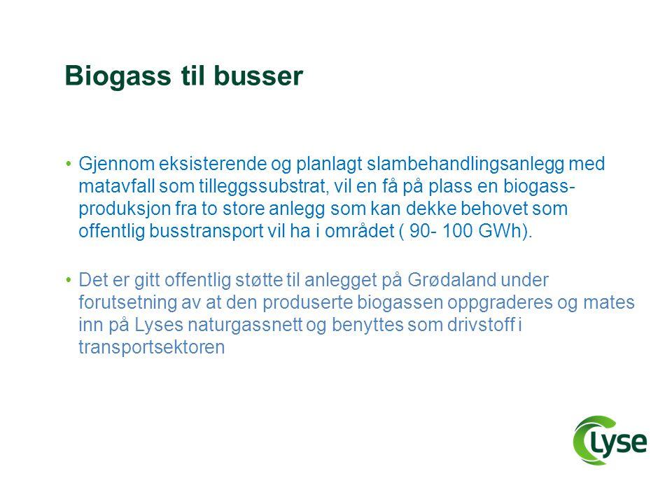 Biogass til busser