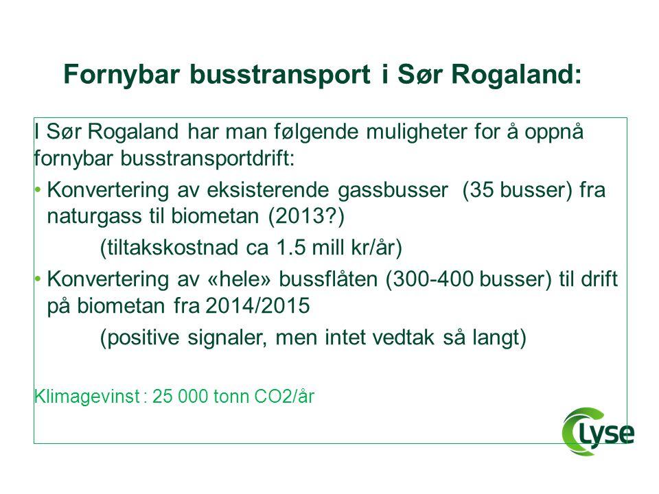Fornybar busstransport i Sør Rogaland: