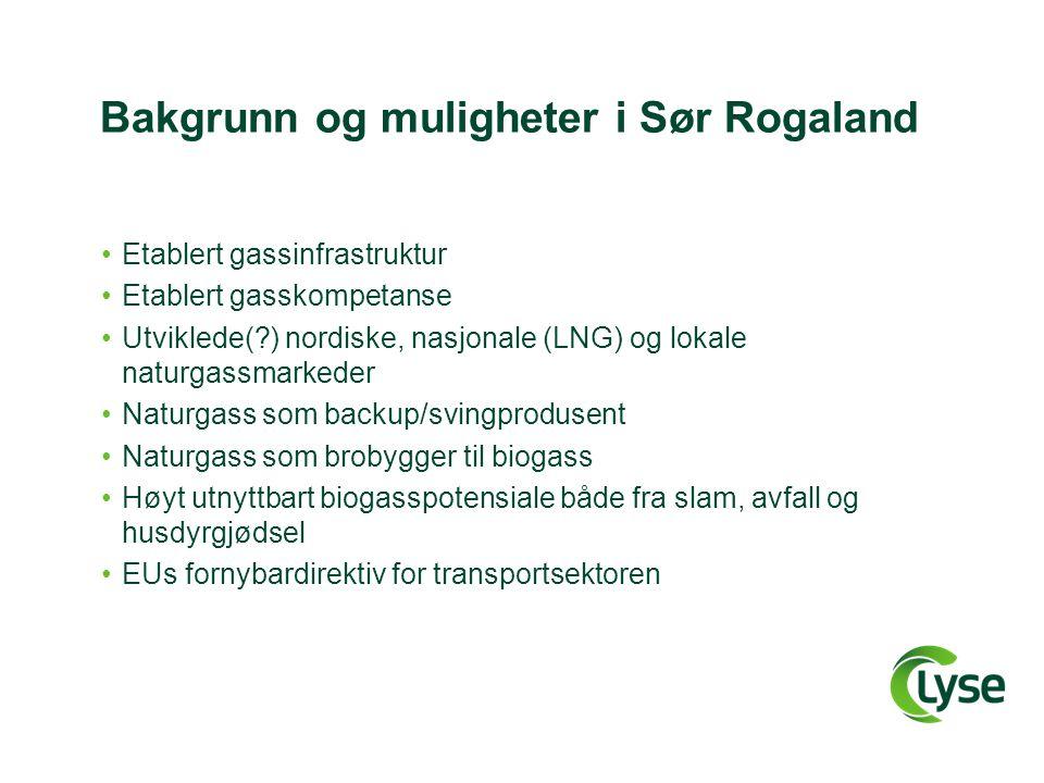 Bakgrunn og muligheter i Sør Rogaland