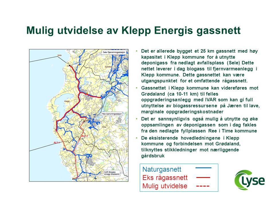 Mulig utvidelse av Klepp Energis gassnett