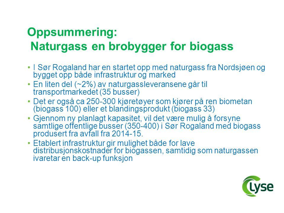 Oppsummering: Naturgass en brobygger for biogass