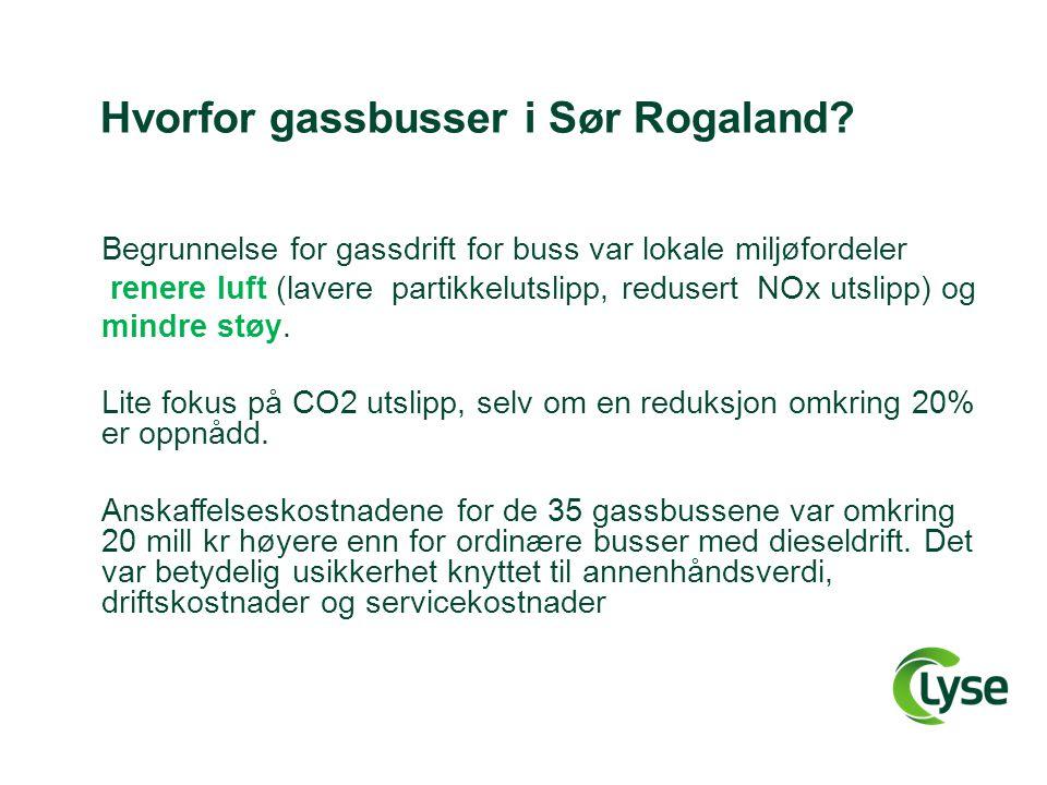 Hvorfor gassbusser i Sør Rogaland