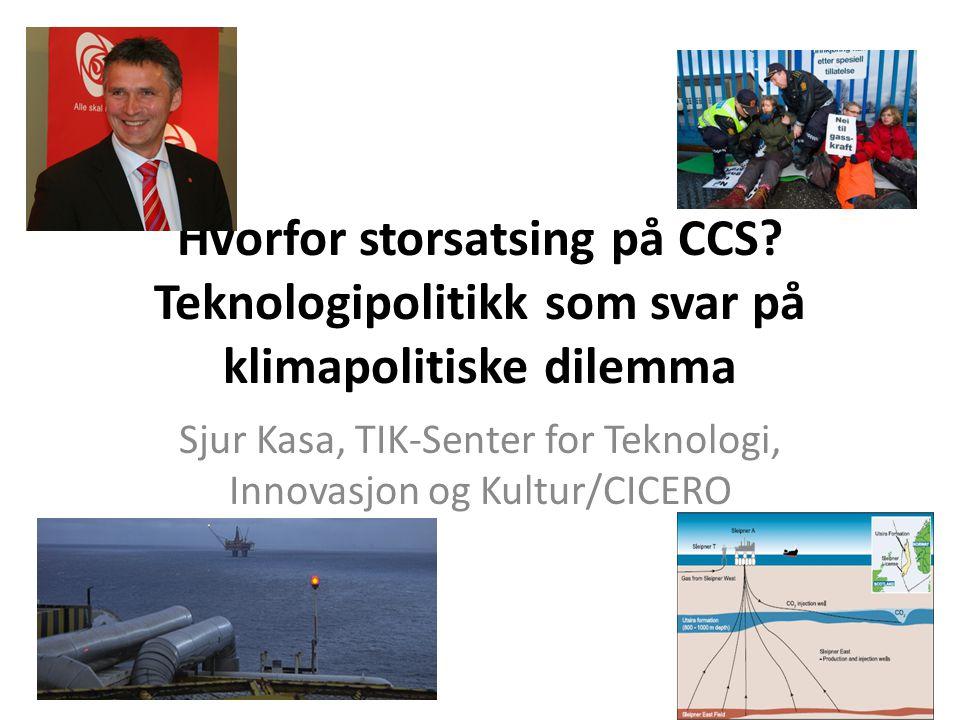 Sjur Kasa, TIK-Senter for Teknologi, Innovasjon og Kultur/CICERO