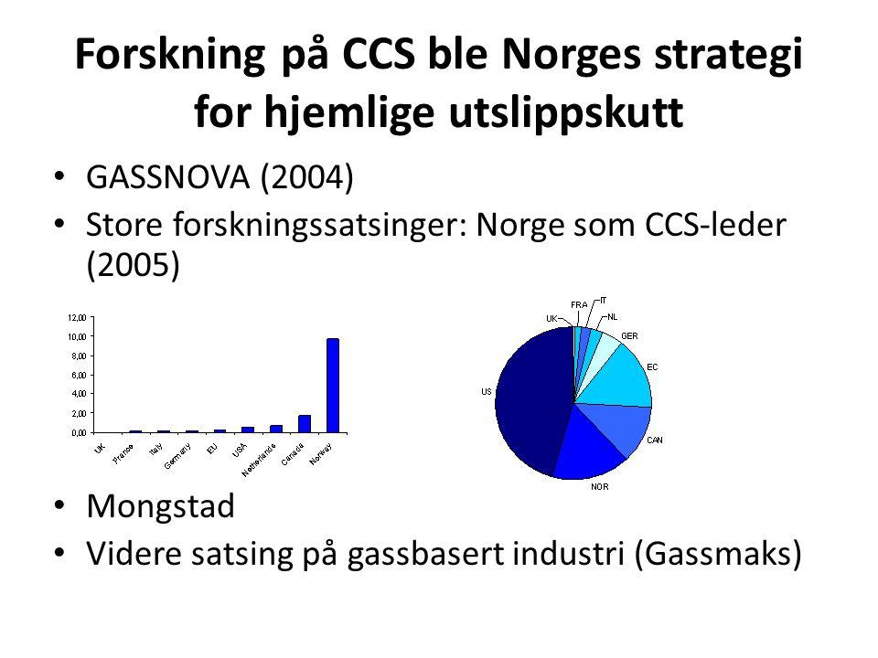 Forskning på CCS ble Norges strategi for hjemlige utslippskutt
