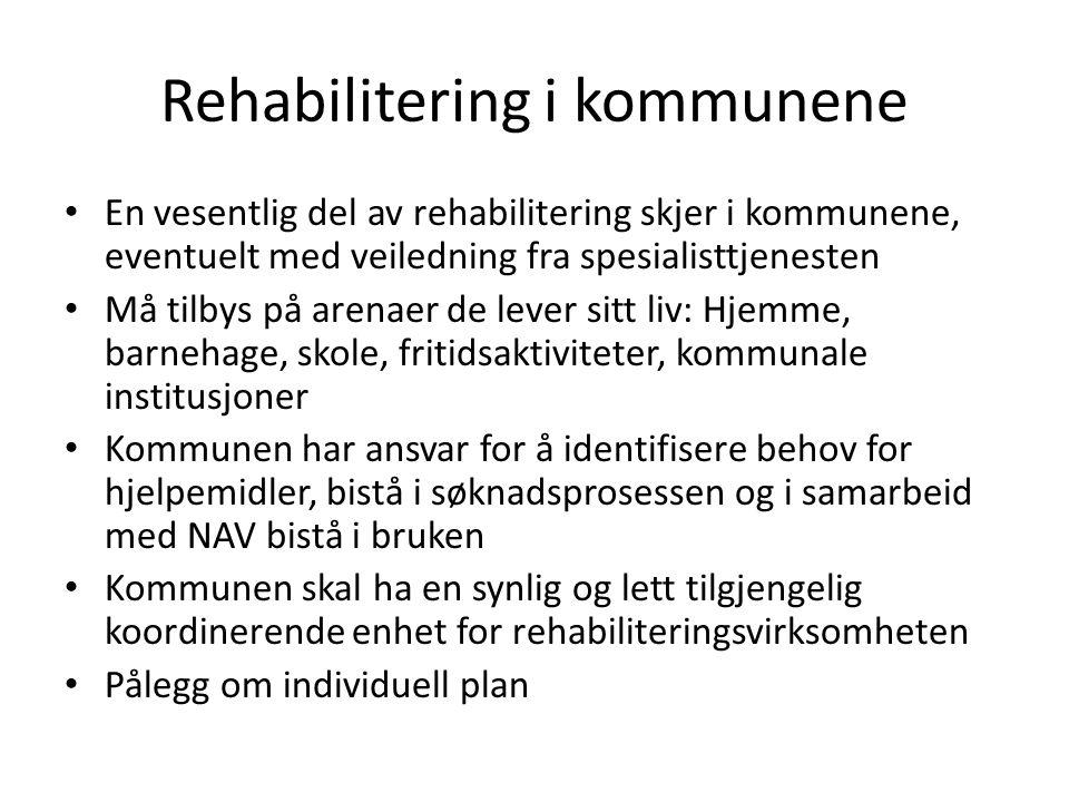 Rehabilitering i kommunene