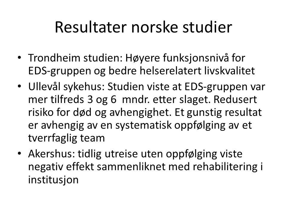 Resultater norske studier