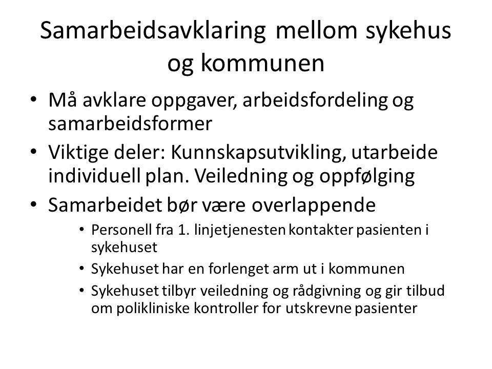 Samarbeidsavklaring mellom sykehus og kommunen