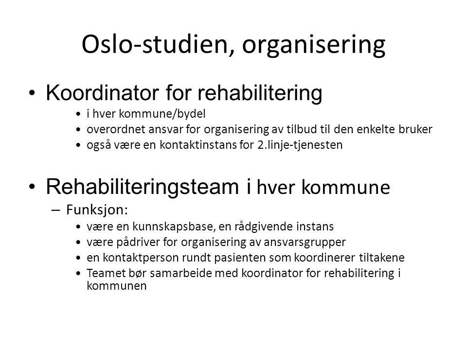 Oslo-studien, organisering