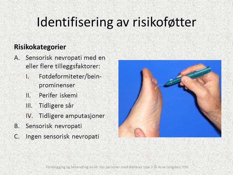 Identifisering av risikoføtter