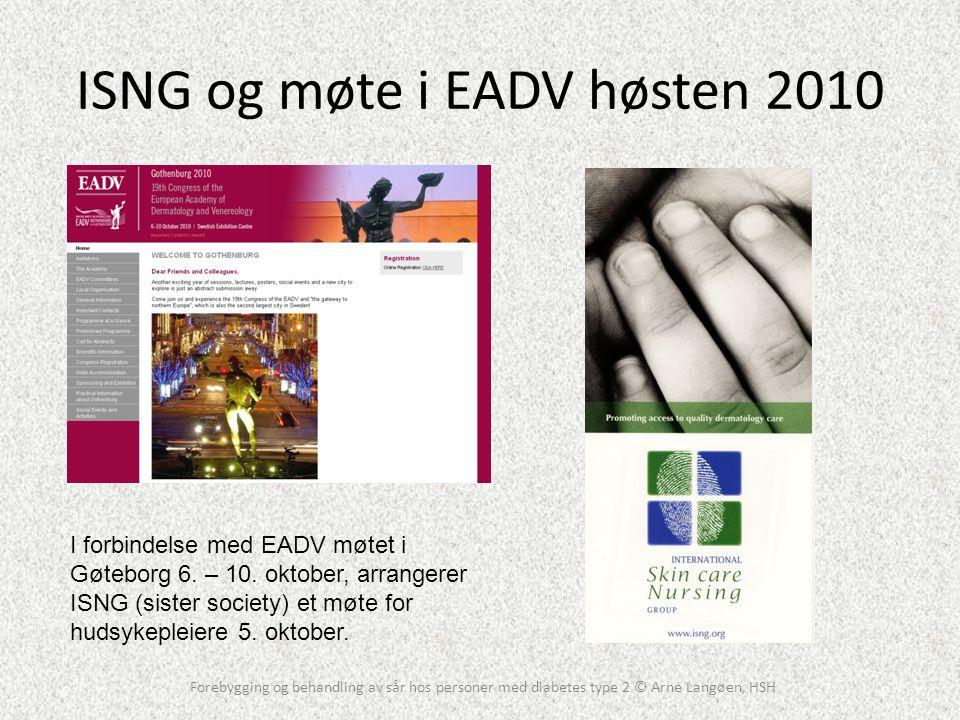 ISNG og møte i EADV høsten 2010