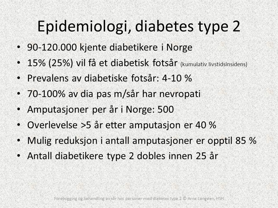 Epidemiologi, diabetes type 2