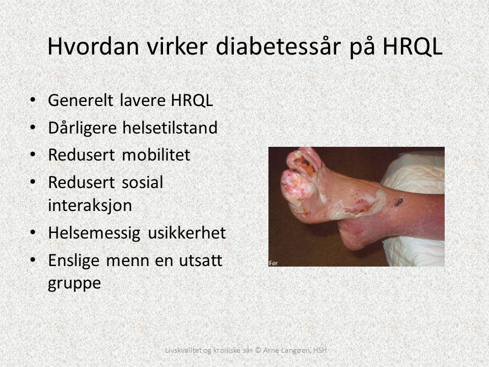 Hvordan virker diabetessår på HRQL