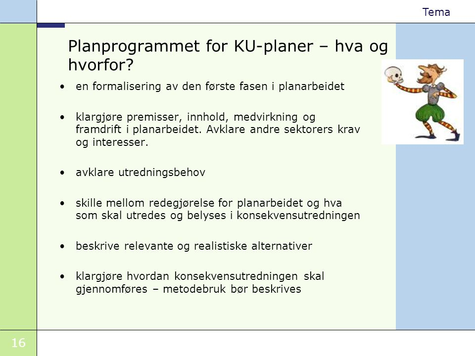 Planprogrammet for KU-planer – hva og hvorfor