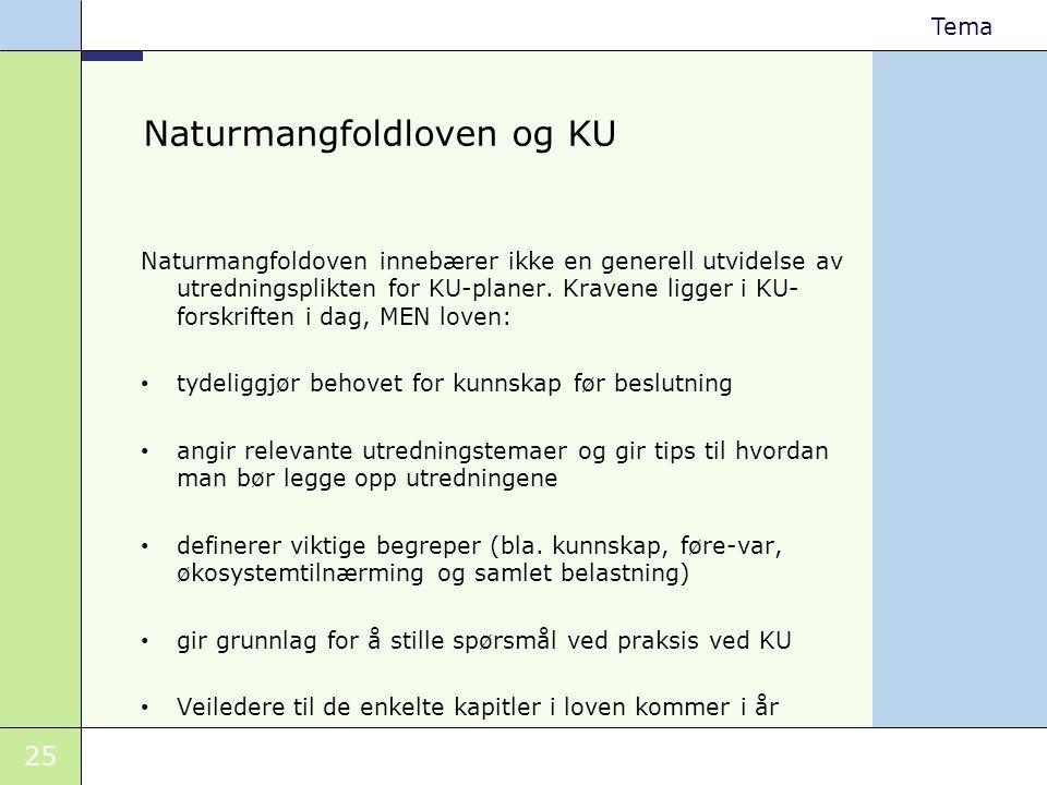 Naturmangfoldloven og KU