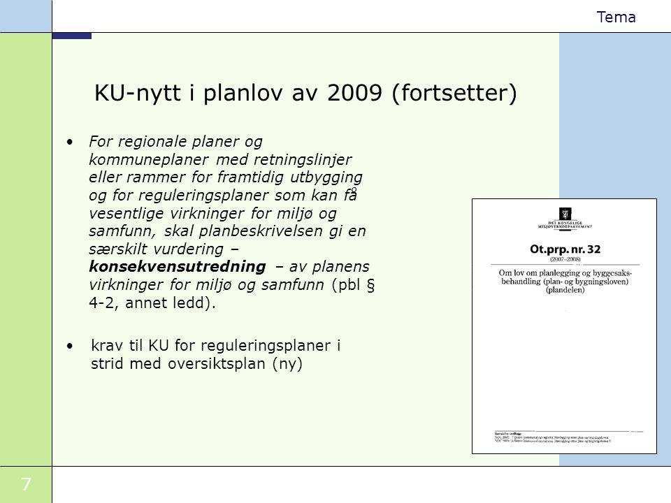 KU-nytt i planlov av 2009 (fortsetter)