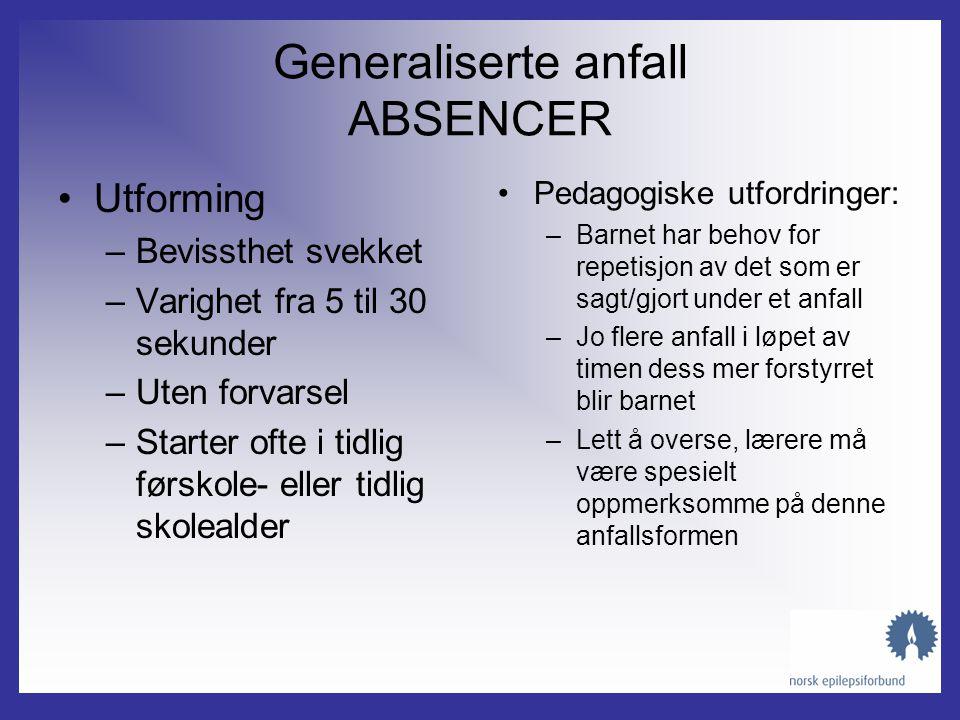 Generaliserte anfall ABSENCER
