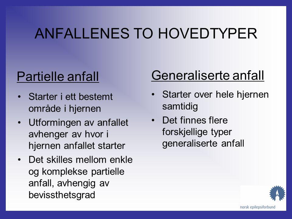 ANFALLENES TO HOVEDTYPER