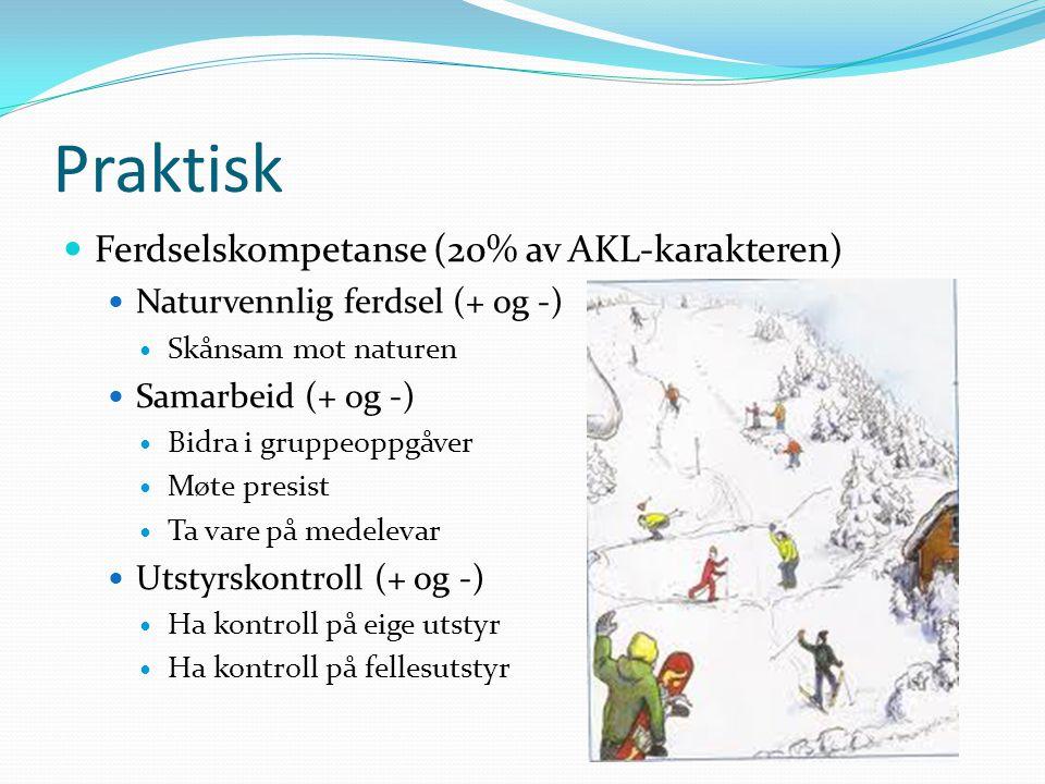 Praktisk Ferdselskompetanse (20% av AKL-karakteren)
