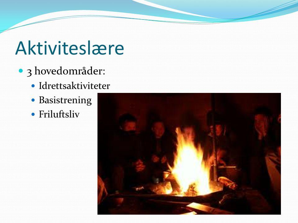 Aktiviteslære 3 hovedområder: Idrettsaktiviteter Basistrening