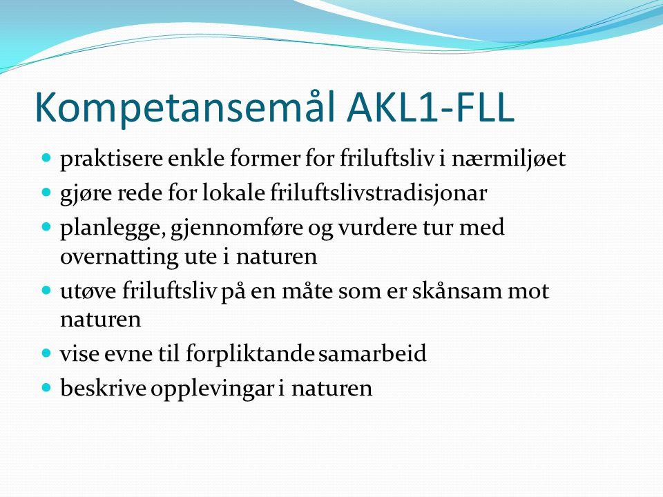 Kompetansemål AKL1-FLL