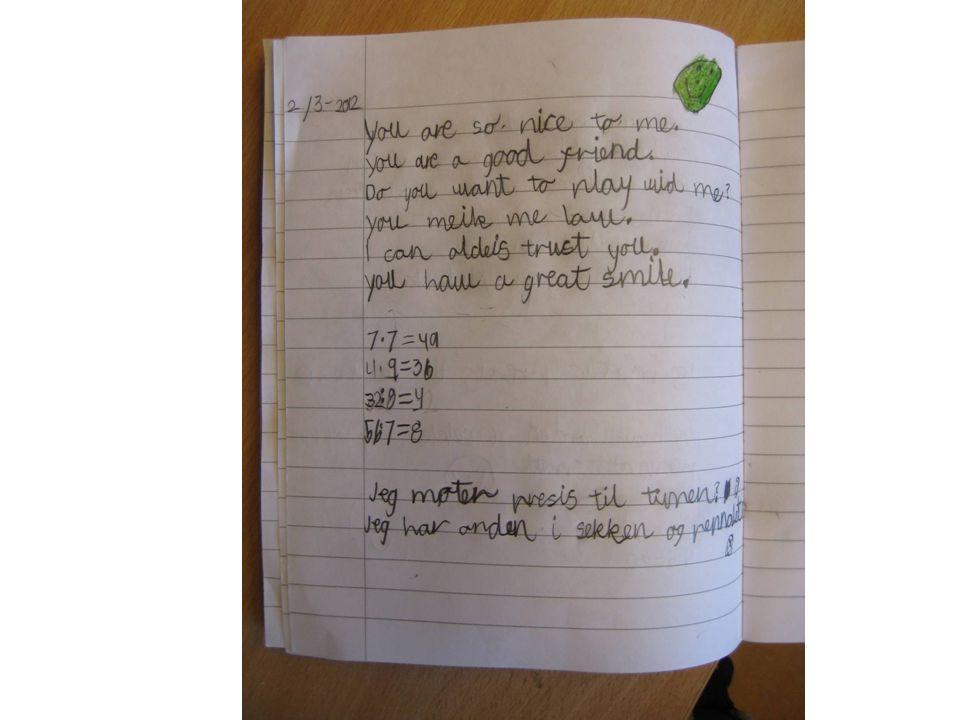Skrive mer selv på høyere klassetrinn.