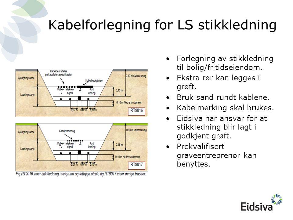 Kabelforlegning for LS stikkledning