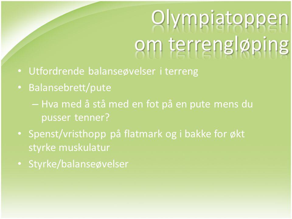 Olympiatoppen om terrengløping