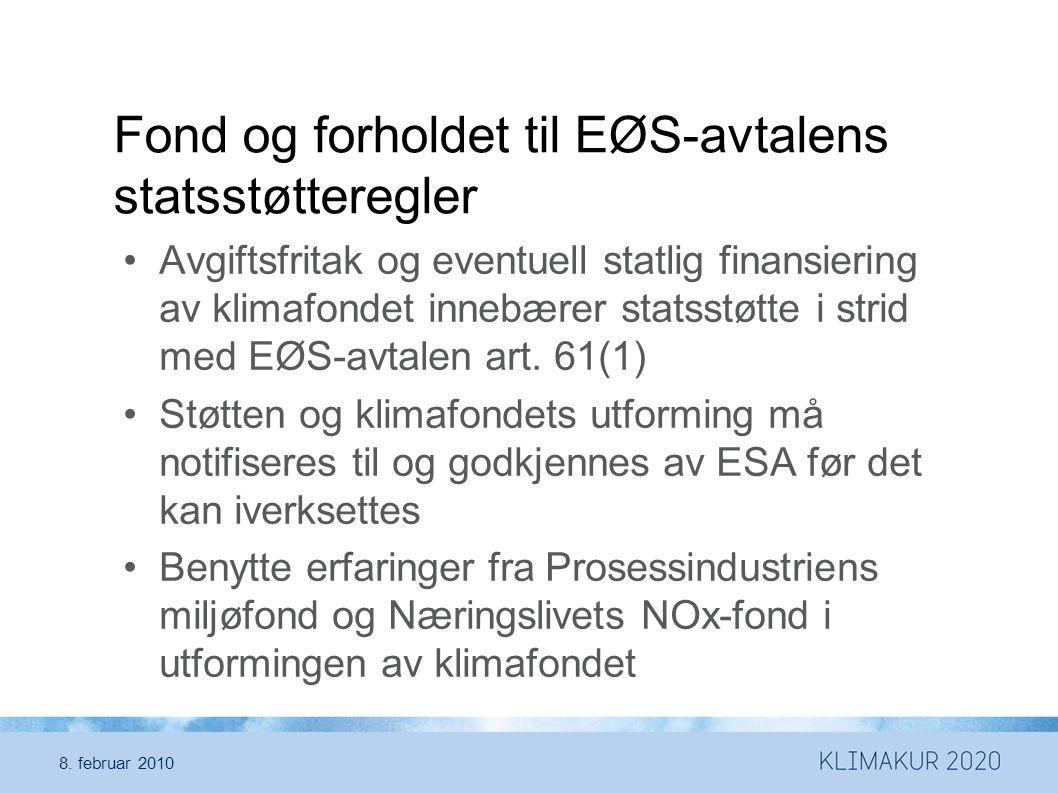 Fond og forholdet til EØS-avtalens statsstøtteregler