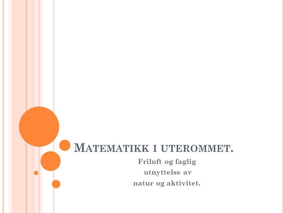 Matematikk i uterommet.
