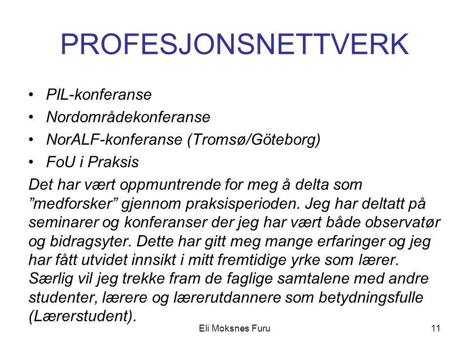 PROFESJONSNETTVERK PIL-konferanse Nordområdekonferanse