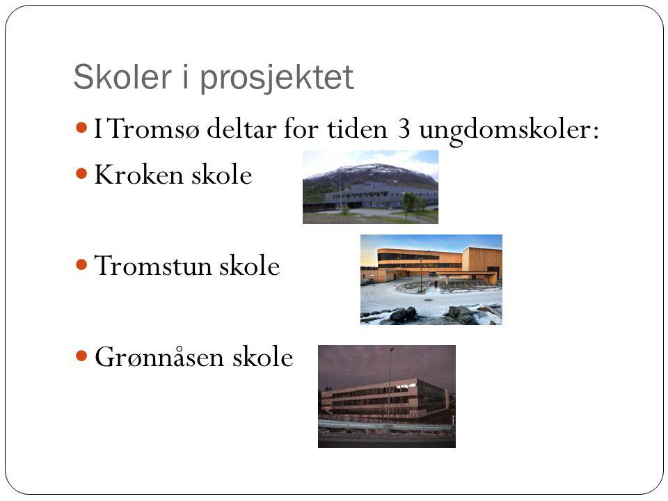Skoler i prosjektet I Tromsø deltar for tiden 3 ungdomskoler: