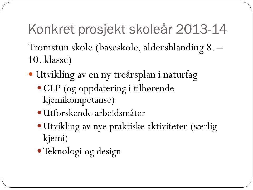 Konkret prosjekt skoleår 2013-14