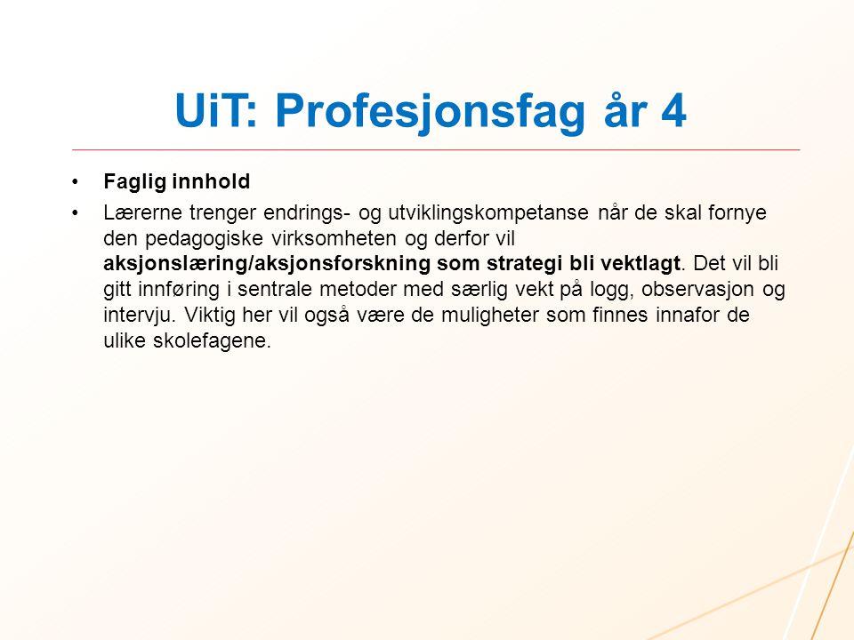 UiT: Profesjonsfag år 4 Faglig innhold
