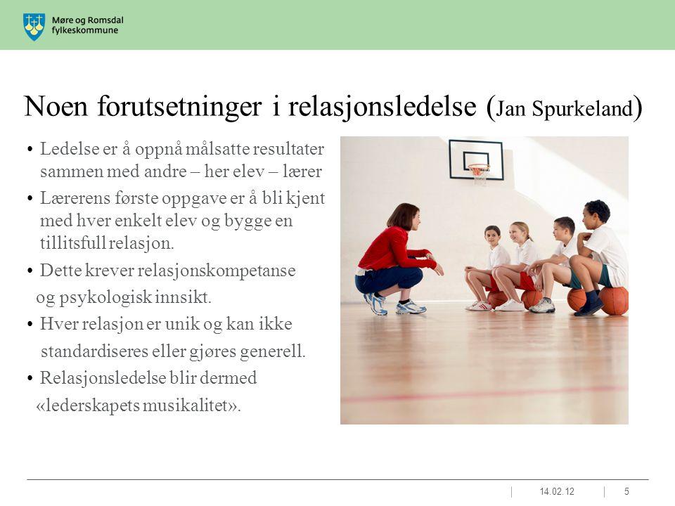Noen forutsetninger i relasjonsledelse (Jan Spurkeland)