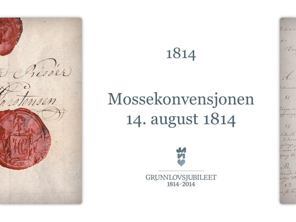 Mossekonvensjonen 14. august 1814