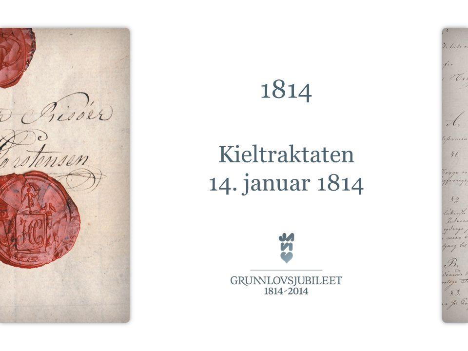 1814 Kieltraktaten 14. januar 1814