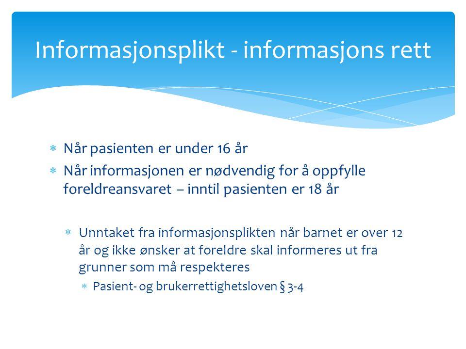 Informasjonsplikt - informasjons rett