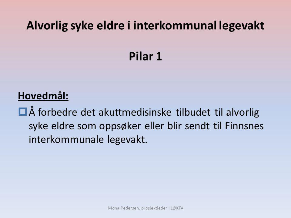 Alvorlig syke eldre i interkommunal legevakt Pilar 1
