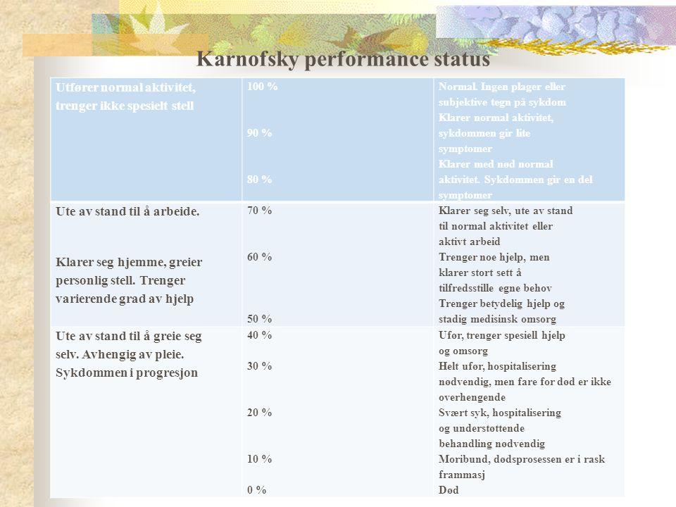 Karnofsky performance status