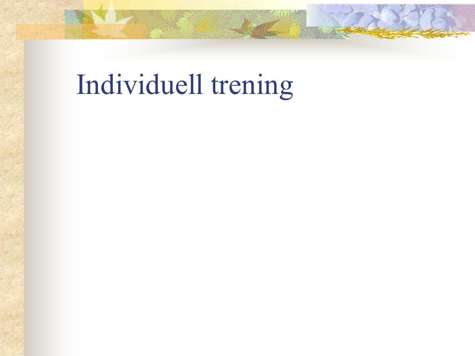 Individuell trening
