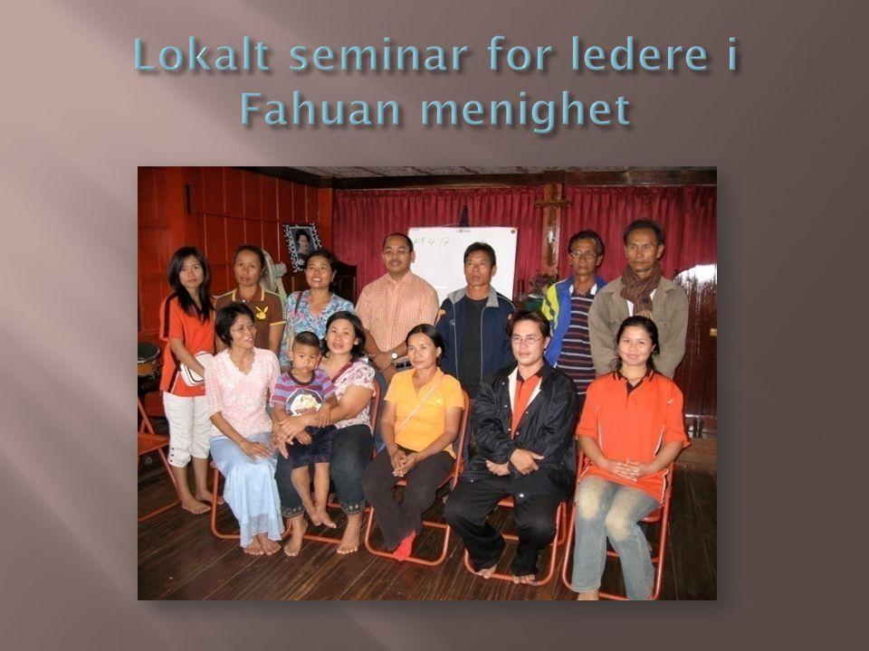 Lokalt seminar for ledere i Fahuan menighet