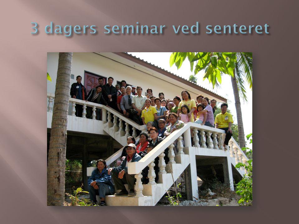 3 dagers seminar ved senteret