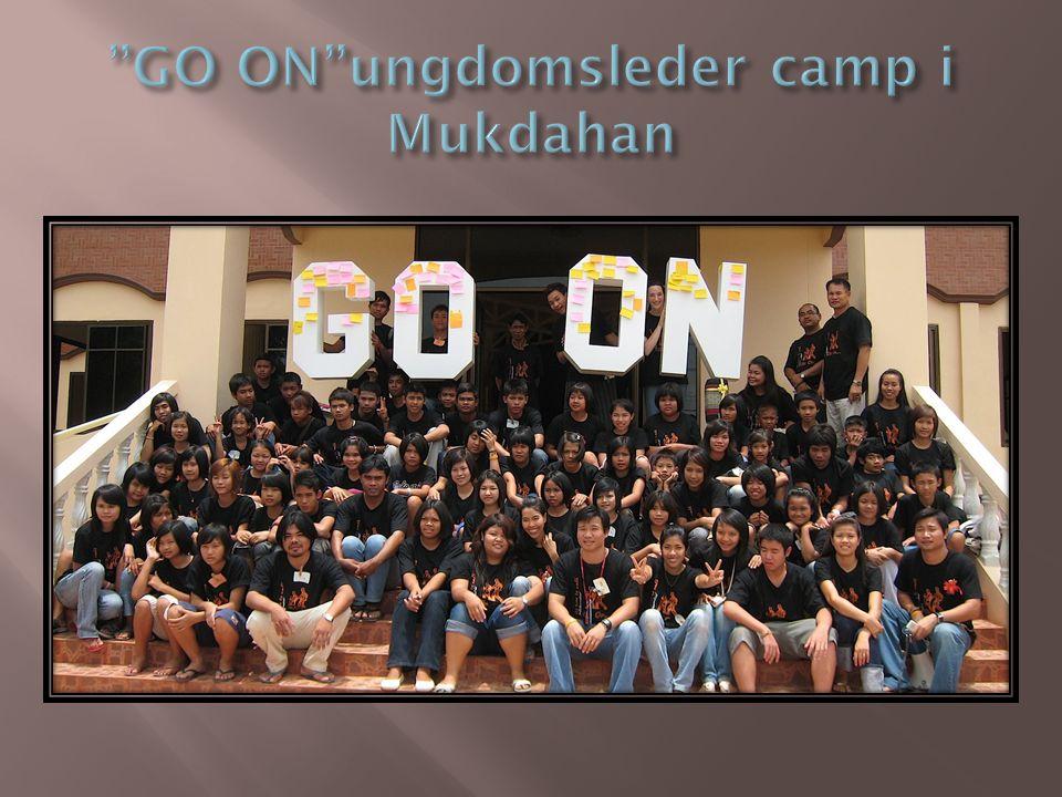 GO ON ungdomsleder camp i Mukdahan